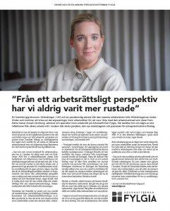 Annons Fylgia Lag & Avtal, februari 2021